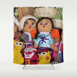 At play in Guatemala Shower Curtain