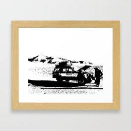 Desert Breakdown Framed Art Print