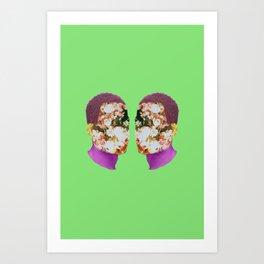 Flwrface Art Print