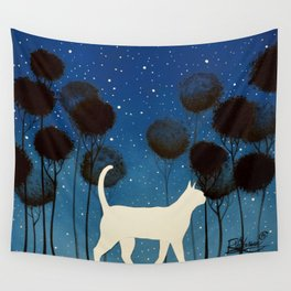 THE POETRY OF A NIGHT by Raphaël Vavasseur Wall Tapestry
