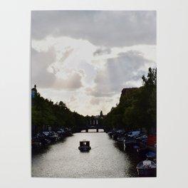 Boat in Amsterdam Poster