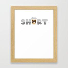 Kurzer bester Freund Kaffee Geschenk Framed Art Print