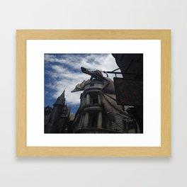 Diagon Alley Dragon Framed Art Print