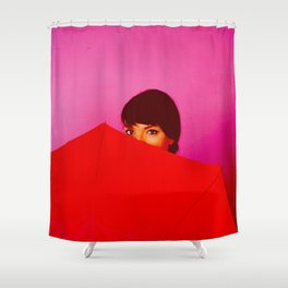 Behind the Umbrella Shower Curtain
