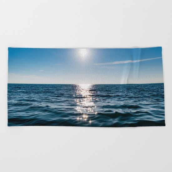 Sea Blue Sky sun Beach Towel