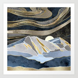 Metallic Sky Art Print