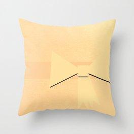 Golden Bow Throw Pillow