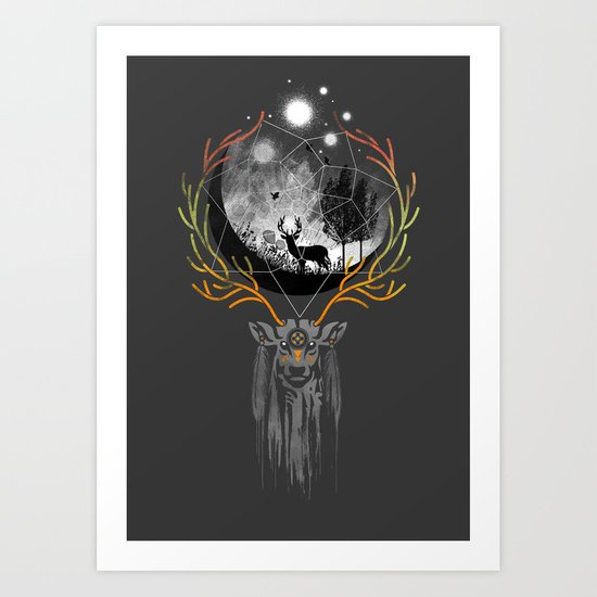 deer to dream Art Print