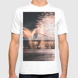 Fireworks bridge T-shirt
