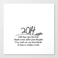 2014 A New Year Quote  Canvas Print