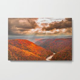 Coopers Rock State Park West Virginia Fall Landscape Metal Print