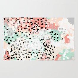 Phoebe - abstract painting minimal gender neutral trendy nursery decor home office art Rug