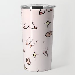 Feminine // Boob Pattern Travel Mug