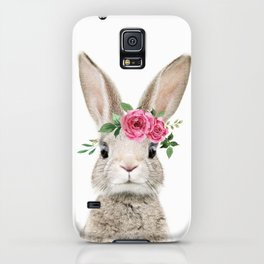 Baby Bunny with Flower Crown iPhone Case