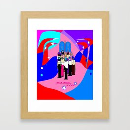 A Bat Mitzvah and Red Sea Framed Art Print