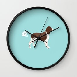 english springer spaniel funny farting dog breed gifts Wall Clock