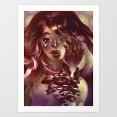 Girl Hand Girl Art Print