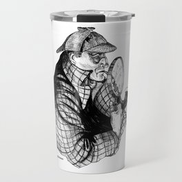 Sherlock Holmes / A Three Pipe Problem by Peter Melonas Travel Mug