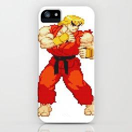 Ken Masters Pixel Art iPhone Case