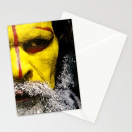 Papua New Guinea Village Chief Spectacular Close-Up Stationery Cards