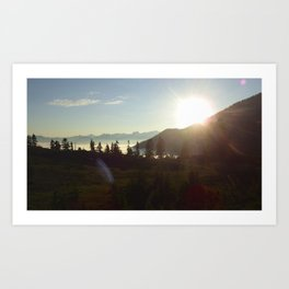 Garibaldi sunset Art Print