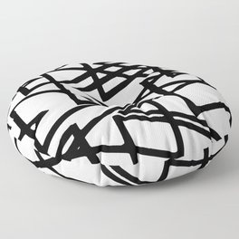 Interlocking Black Triangles Artistic Design Floor Pillow