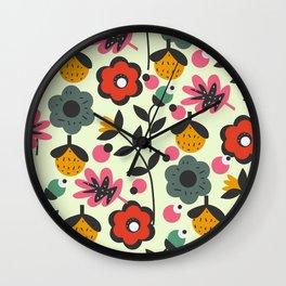 Floral sweetness Wall Clock