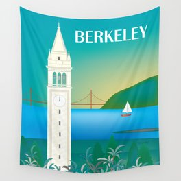 Berkeley, California - Skyline Illustration by Loose Petals Wall Tapestry