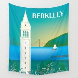 Berkeley, California - Skyline Illustration by Loose Petals Wall Tapestry