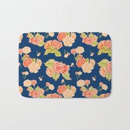 Carnations and Begonias Bath Mat