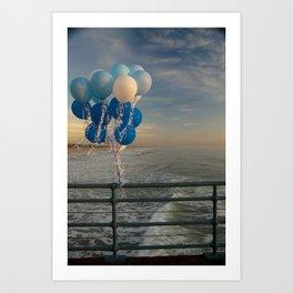 Santa Monica pier 4 Art Print