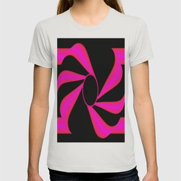 Abstract. Pink+Black Dot. T-shirt