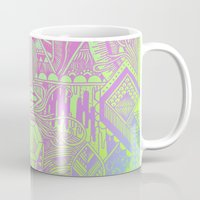hologram Mugs featuring Hologram Wave by michiko_design