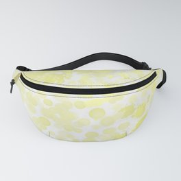 Spots and Splatters-Yellow,Gray and White Fanny Pack