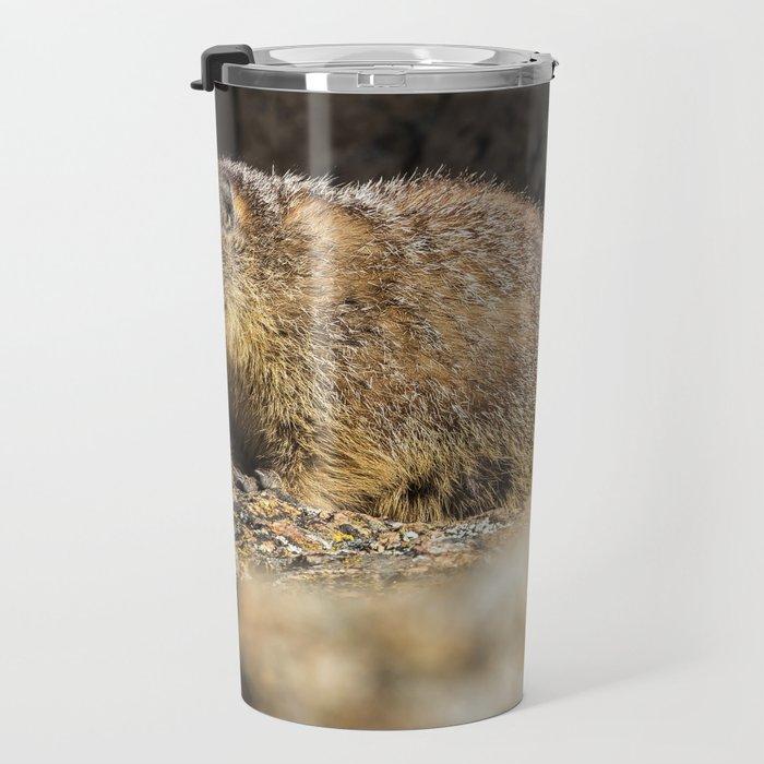 Two Marmots At Smith Rock Travel Mug