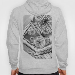 Abstract Perspective // Black and White Lighting Ornamental Chandelier Stairway View Hoody