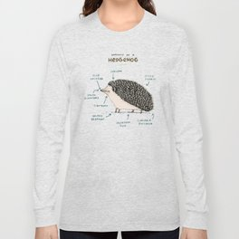 Anatomy of a Hedgehog Long Sleeve T-shirt