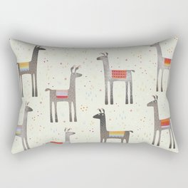 Llamas in the Meadow Rectangular Pillow