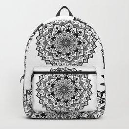 Mandala in black Backpack
