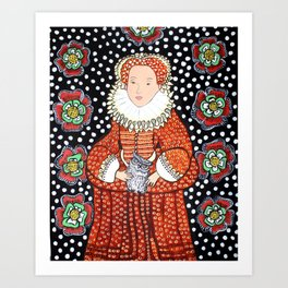 Queen Elizabeth 1 Art Print