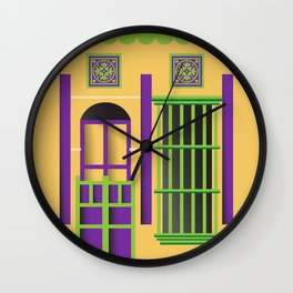 Casita amarilla del saladillo Wall Clock