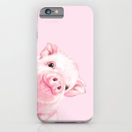 Sneaky Baby Pink Pig iPhone Case