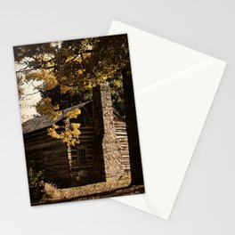 Log Cabin in Autumn Stationery Cards