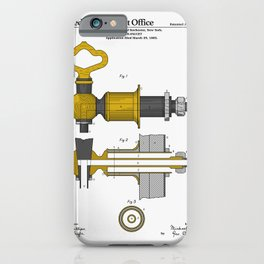 Beer Faucet Patent iPhone Case