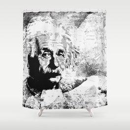 Albert Einstein - schwarz-weiß Shower Curtain
