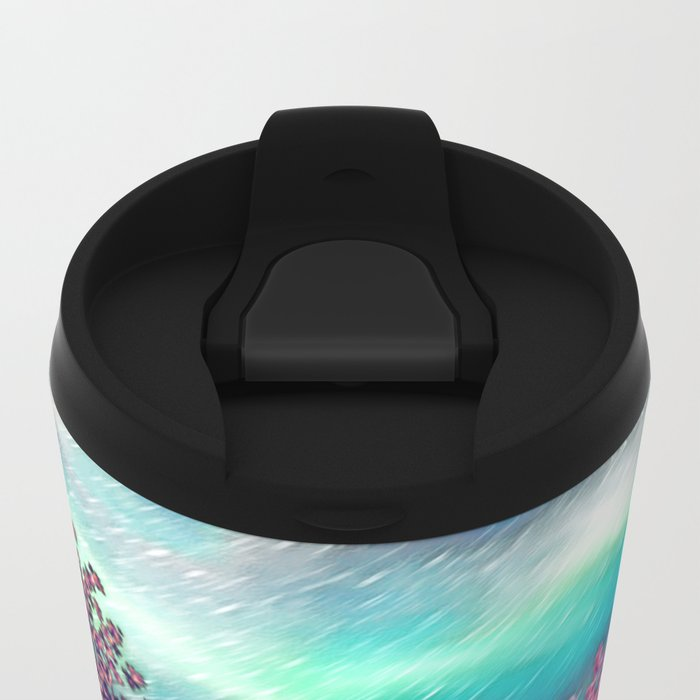 Cherry Blossom Trees Metal Travel Mug
