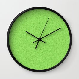 Green Triangles Concentric Polygons Wall Clock