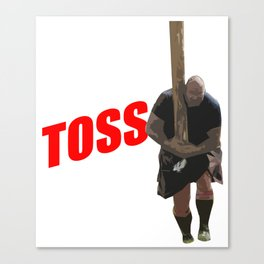 Caber Toss Highland Games Lumbejack Sports Gift Canvas Print