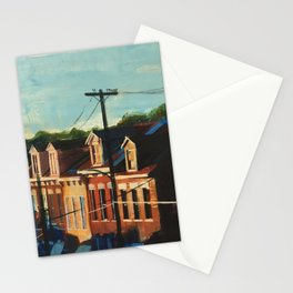 Sunset on 45th St. Stationery Cards