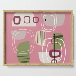 Pink Mid Century Modern Serving Tray